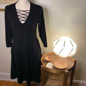 Torrid 3/4 Sleeve Black Knit Dress Size 1X